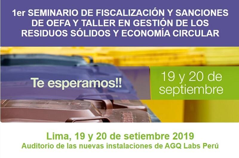 Seminario de fiscalización y sanciones de OEFA