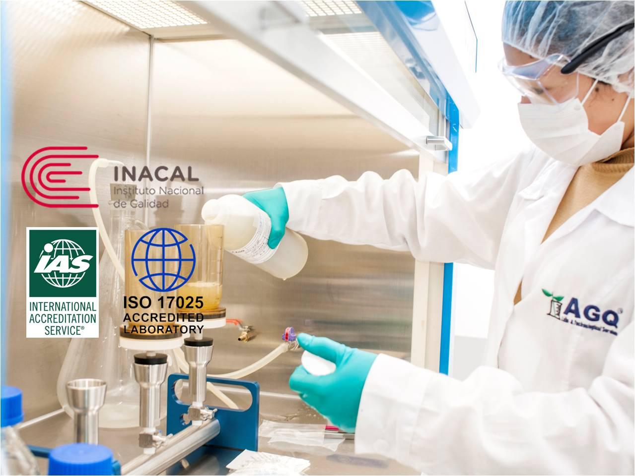 AGQ Labs en Perú ha ampliado su acreditación como Laboratorio de Ensayo por el Instituto Nacional de Calidad de Perú, INACAL